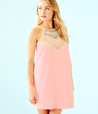 Pearl Soft Shift Dress, Coral Reef Tint, large 0