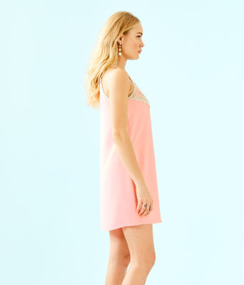 Pearl Soft Shift Dress, Coral Reef Tint, large 2