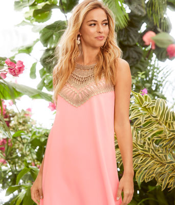 Pearl Soft Shift Dress, Coral Reef Tint, large