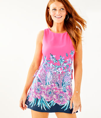 Donna Romper, Pink Tropics Lucky Lady Engineered Romper, large 0