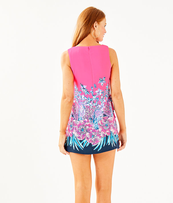 Donna Romper, Pink Tropics Lucky Lady Engineered Romper, large