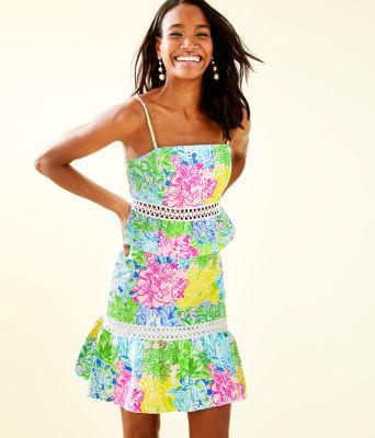 Jan Peplum Top And Skirt Set, Multi Cheek To Cheek, large 0