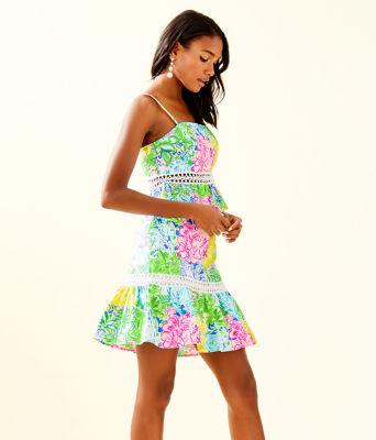 Jan Peplum Top And Skirt Set, Multi Cheek To Cheek, large 2