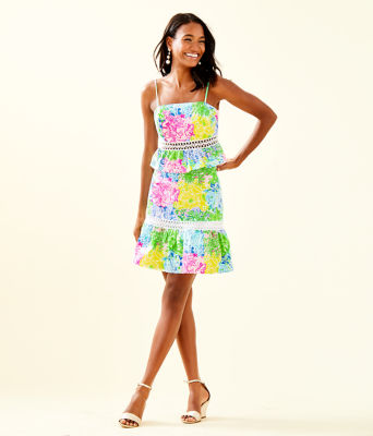 Jan Peplum Top And Skirt Set, Multi Cheek To Cheek, large 3
