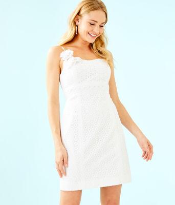 Liz Dress, Resort White Bubble Eyelet, large 0