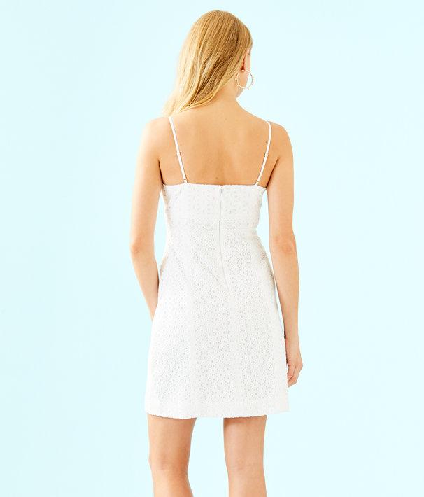 Liz Dress, Resort White Bubble Eyelet, large