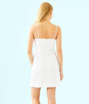 Liz Dress, Resort White Bubble Eyelet, large 1