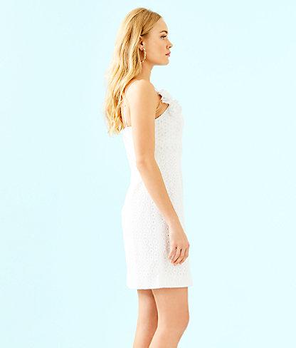 Liz Dress, Resort White Bubble Eyelet, large 2