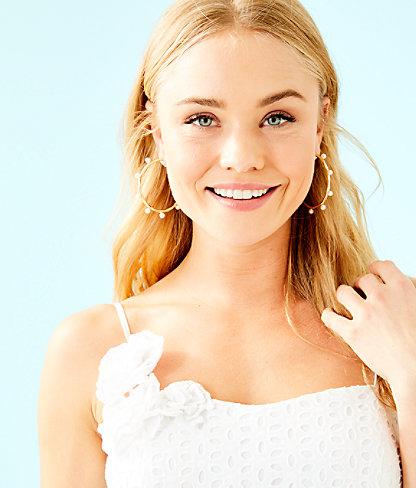 Liz Dress, Resort White Bubble Eyelet, large 4