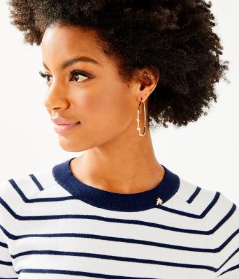 Dasha Sweater, True Navy Dasha Stripe, large 2