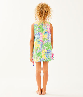 Girls Little Lilly Classic Shift Dress, Multi Cheek To Cheek, large 1