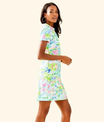 UPF 50+ Sadie Polo Dress, Multi Honda Classic Toile, large
