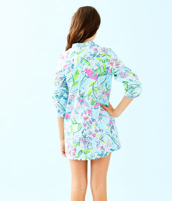 Girls Mini Natalie Cover-Up, Bali Blue Sway This Way, large 1