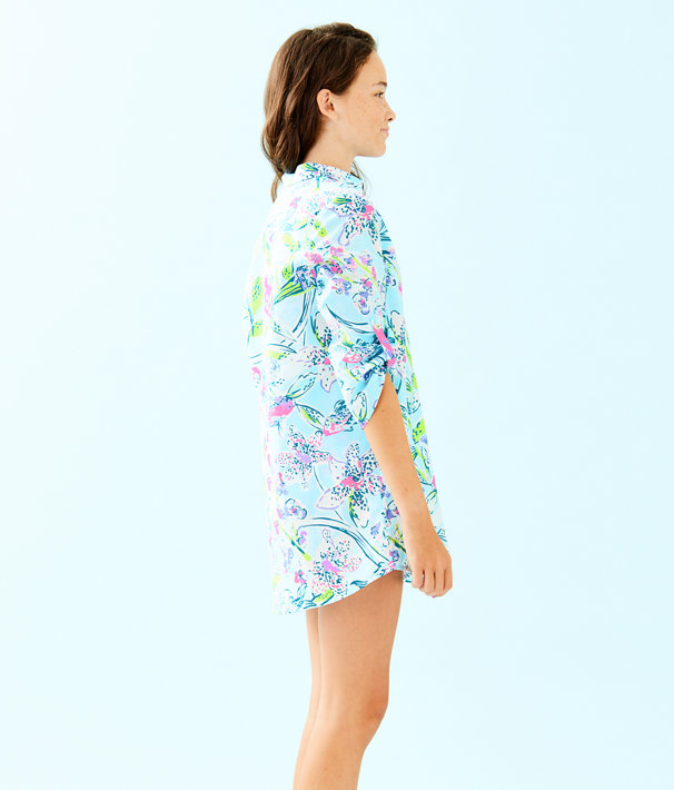 Girls Mini Natalie Cover Up, Bali Blue Sway This Way, large