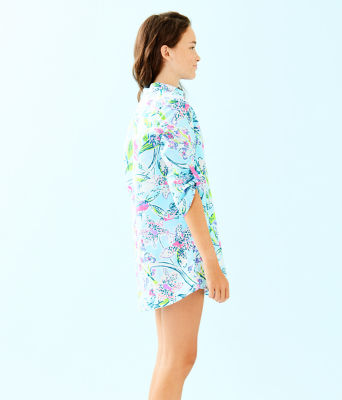 Girls Mini Natalie Cover-Up, Bali Blue Sway This Way, large 2