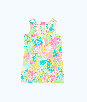 Girls Mini Harper Shift Dress, Multi Sunshine State Of Mind, large