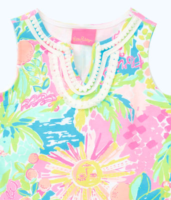 Girls Mini Harper Shift Dress, Multi Sunshine State Of Mind, large 2