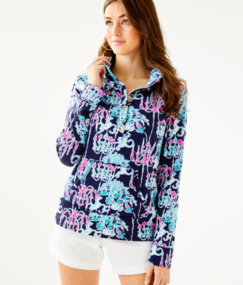 UPF 50+ Captain Popover, Bright Navy Pop Up Monkey Trouble, large
