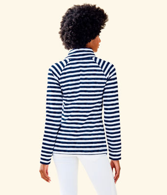 UPF 50+ Captain Popover, Bright Navy Positano Stripe, large