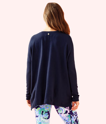 Luxletic Clifford Top, True Navy, large 1