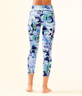 "UPF 50+ Luxletic 24"" High Rise Weekender Midi Legging, Bright Navy Sirens and Spirits, large 1"