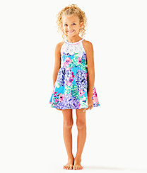 Girls Little Kinley Dress, Multi Special Delivery, large