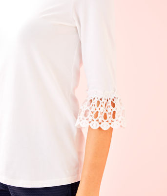Waverly Ruffle Top, Resort White, large