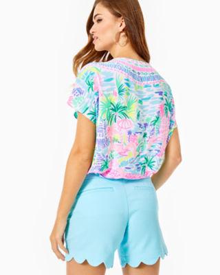 "5"" Buttercup Stretch Short, Bali Blue, large 1"