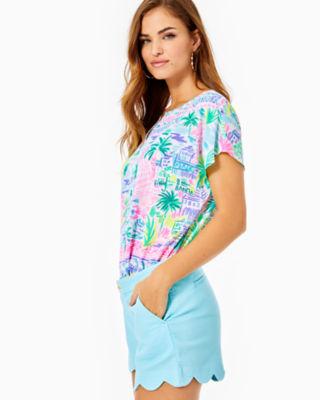"5"" Buttercup Stretch Short, Bali Blue, large 2"