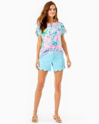"5"" Buttercup Stretch Short, Bali Blue, large 3"