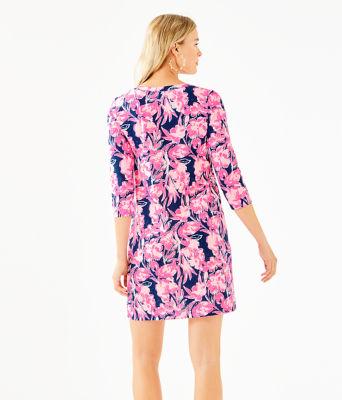 Daphne Dress, Inky Navy Flamingle, large 1