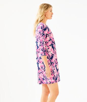 Daphne Dress, Inky Navy Flamingle, large