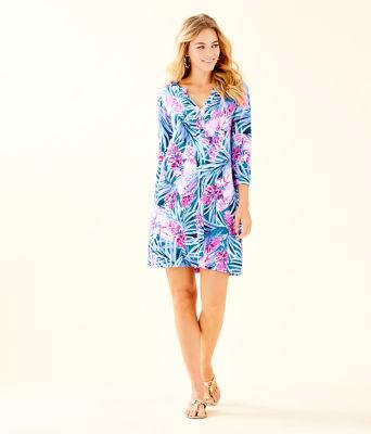 Daphne Dress, Mr Peacock Blue Tweethearts, large