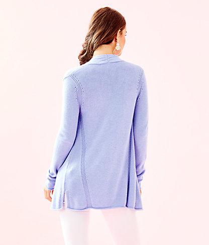 Allyse Cardigan, Heathered Blue Peri, large 1