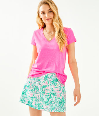 Etta Top, Pink Tropics, large