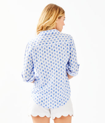 Sea View Button Down Top, Resort White Toe To Toe, large