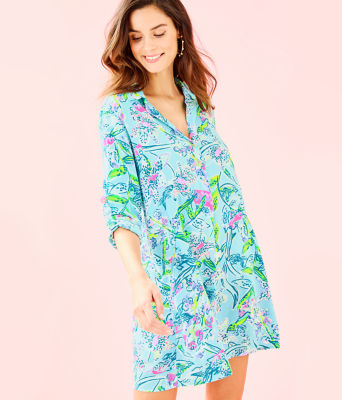 Lillith Tunic Dress, Bali Blue Sway This Way, large 0