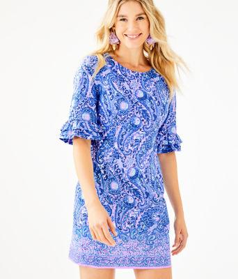 Fiesta Stretch Dress, Purple Iris Hello Sunshine Engineered Woven Dress, large 0