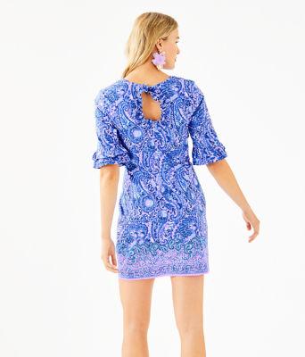 Fiesta Stretch Dress, Purple Iris Hello Sunshine Engineered Woven Dress, large 1