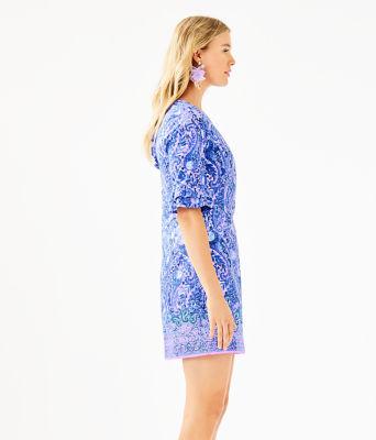 Fiesta Stretch Dress, Purple Iris Hello Sunshine Engineered Woven Dress, large 2