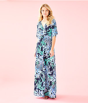 Parigi Maxi Dress, Deep Indigo Swish And Sway, large