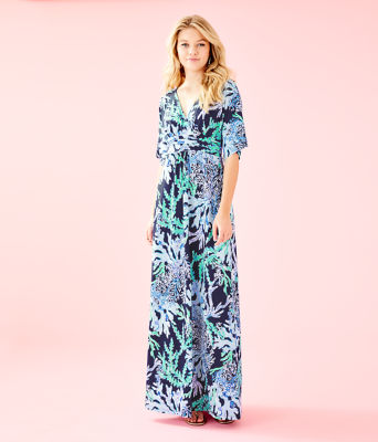 Parigi Maxi Dress, Deep Indigo Swish And Sway, large