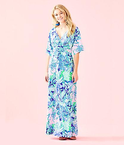 Parigi Maxi Dress, Multi Party Thyme, large 0