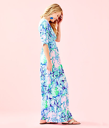 Parigi Maxi Dress, Multi Party Thyme, large 2