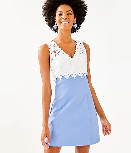 Sandi Stretch Shift Dress, Blue Peri, large 0