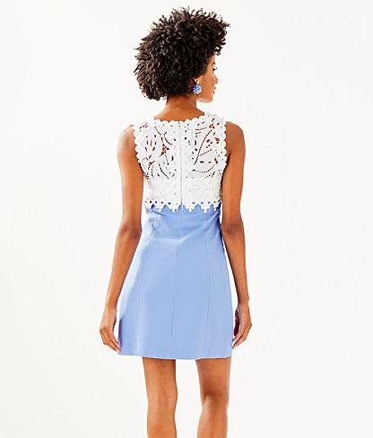 Sandi Stretch Shift Dress, Blue Peri, large 1