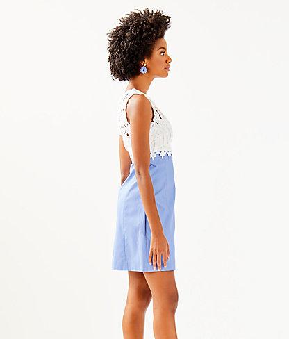Sandi Stretch Shift Dress, Blue Peri, large 2