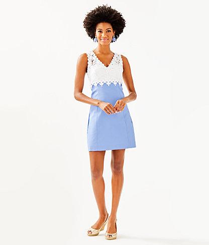 Sandi Stretch Shift Dress, Blue Peri, large 3