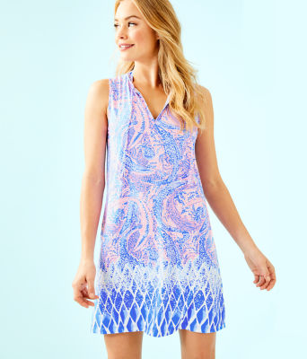 Johana Cover-Up, Coastal Blue Maybe Gator Engineered Cover Up, large