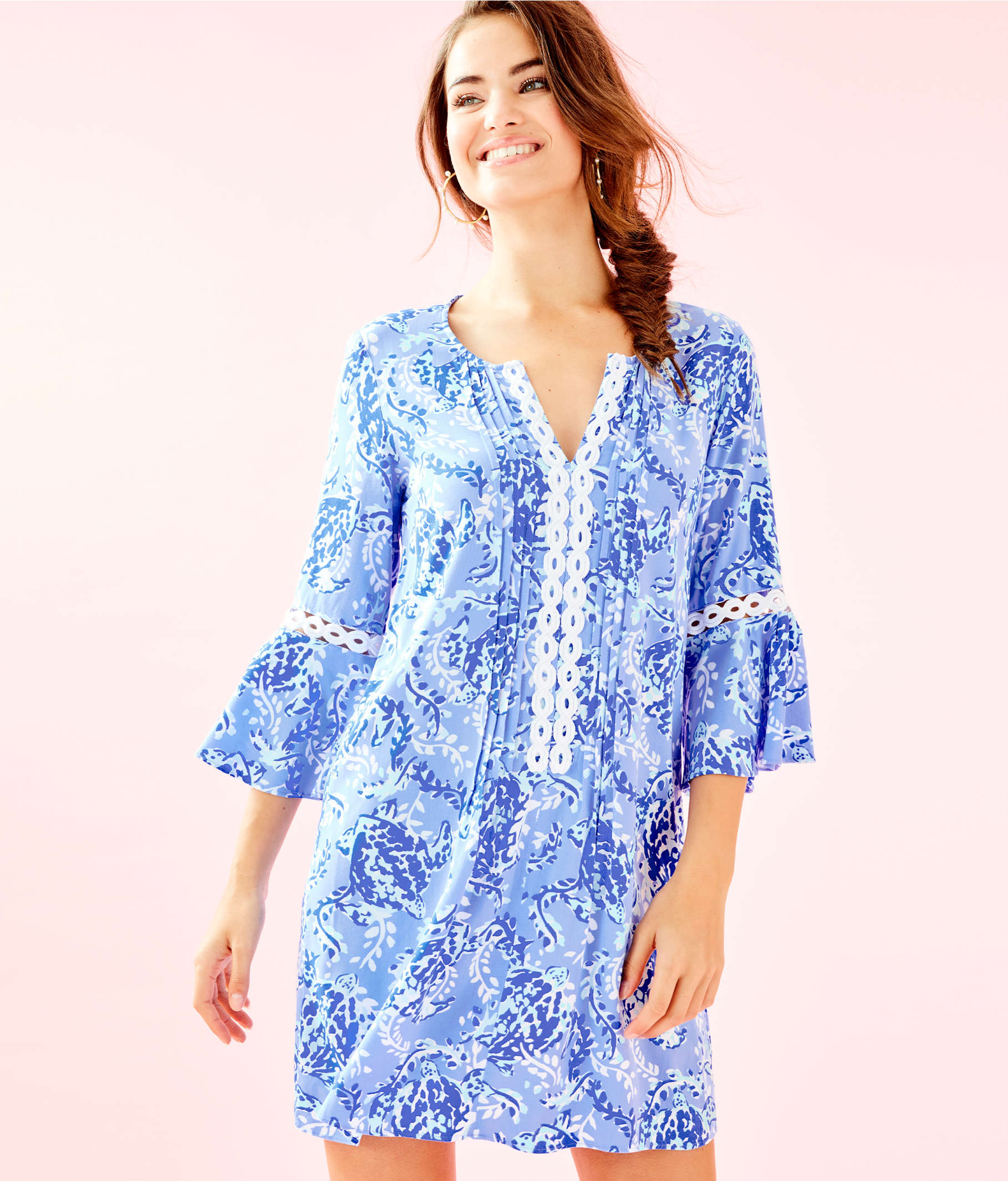 309a52129fc ... Hollie Tunic Dress, Blue Peri Turtley Awesome, large ...